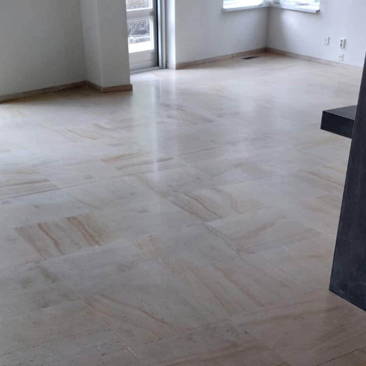Project Enkhuizen Frans zandsteen vloer reinigen zoeten impregneren