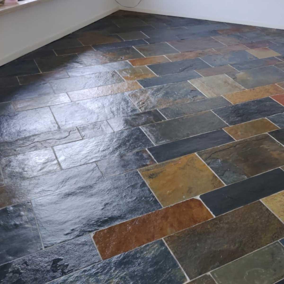 Project Heemskerk leisteen vloer reinigen en impregneren