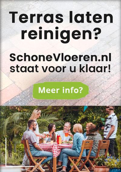 Terras vlonder laten reinigen? SchoneVloeren.nl staat voor u klaar